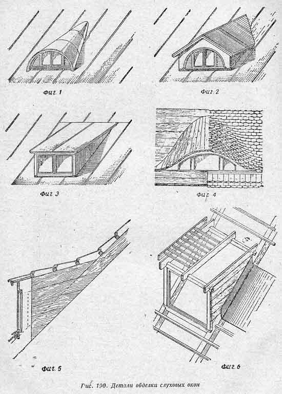 Слуховые окна на чердаке размеры схемы